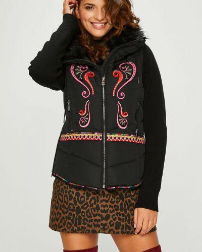 Утепленная куртка с вышивкой с карманами Desigual