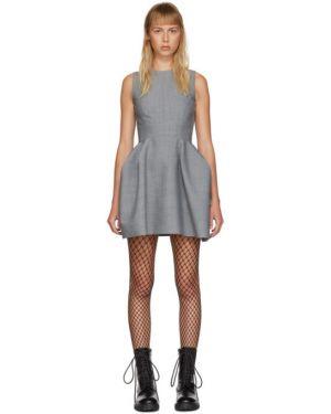 Платье с открытой спиной плиссированное We11done