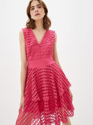 Розовое вечернее платье Guess Jeans