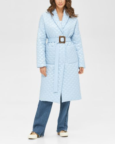Стеганое пальто - голубое Mila Nova