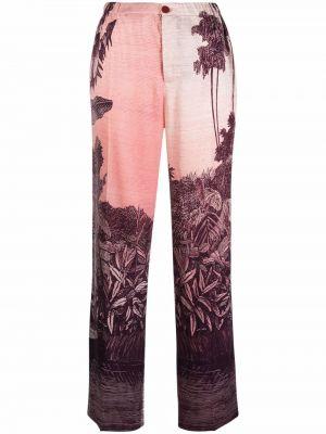 Шелковые брюки - розовые F.r.s. For Restless Sleepers