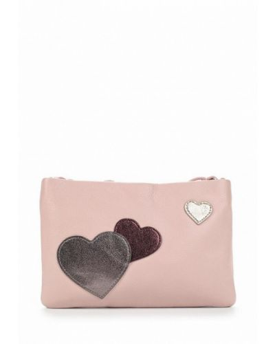 Розовая сумка через плечо Fabretti