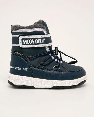 Ботинки синие Moon Boot