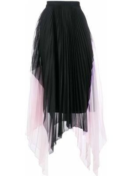 Плиссированная юбка асимметричная пачка Iceberg