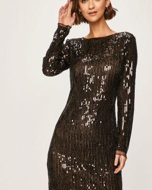 Платье мини с пайетками с декольте Answear