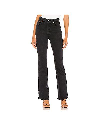 Хлопковые черные джинсы на пуговицах Levi's®