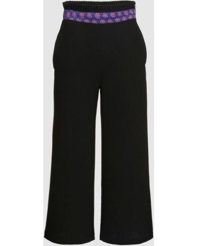 Черные укороченные брюки с поясом Manoush