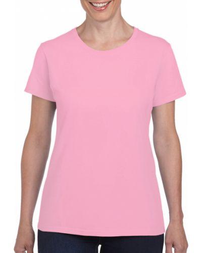 Хлопковая футболка - розовая Gildan