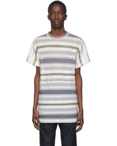 Koszula krótkie z krótkim rękawem z mankietami piasek Jil Sander