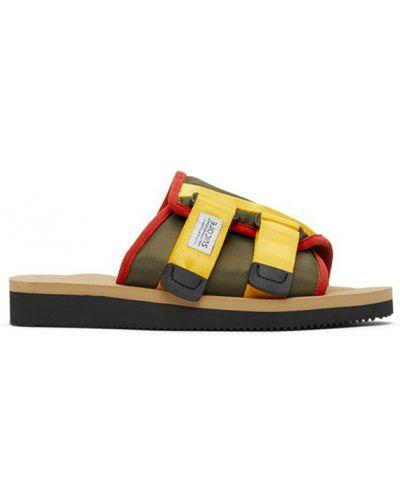 Żółte sandały na rzepy Suicoke