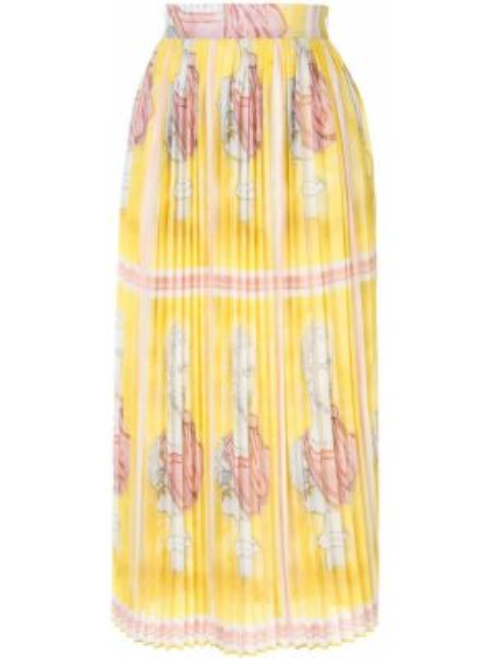 Желтая юбка миди в рубчик Tata Naka