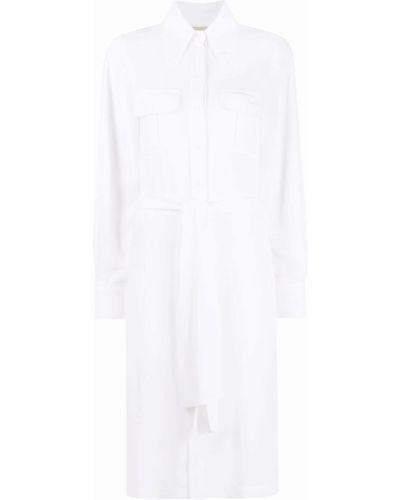Biała sukienka z długimi rękawami Blanca Vita