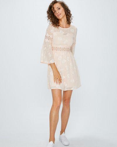 Платье мини с вышивкой с вырезом Answear