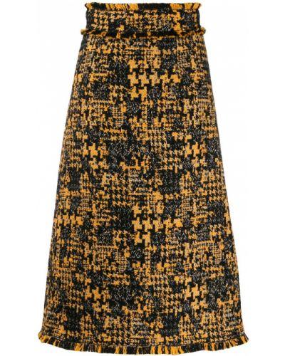 Юбка миди с завышенной талией твидовая Dolce & Gabbana