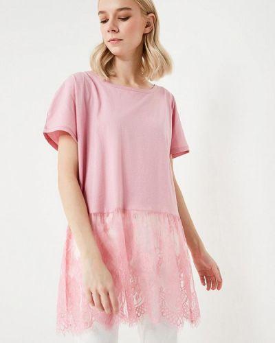 Розовая футболка Twin-set Simona Barbieri
