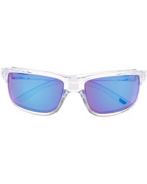 Прямые белые солнцезащитные очки квадратные с завязками Oakley