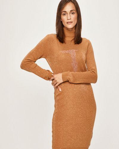 Джинсовое платье из вискозы однотонное Trussardi Jeans