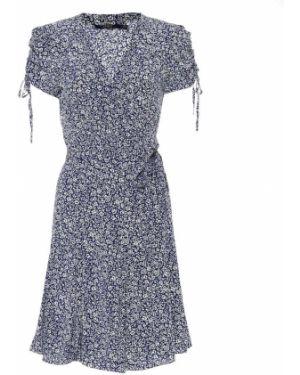 Платье мини с цветочным принтом синее Polo Ralph Lauren
