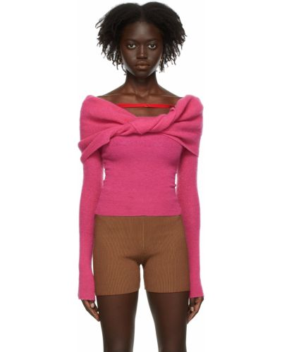 Свитер из мохера - розовый Jacquemus