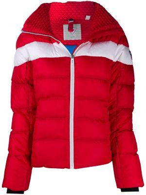 С рукавами красная куртка горнолыжная с капюшоном Rossignol