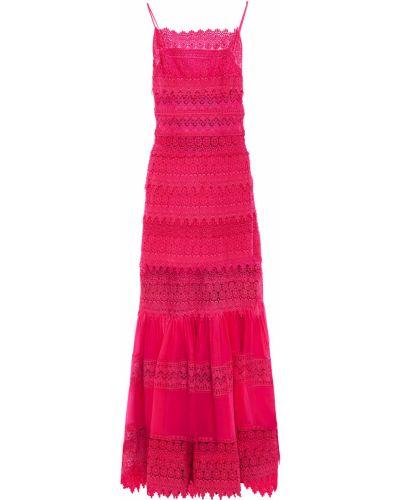 Хлопковое платье макси - розовое Charo Ruiz Ibiza