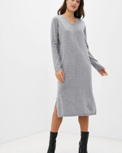 Прямое серое платье Baon