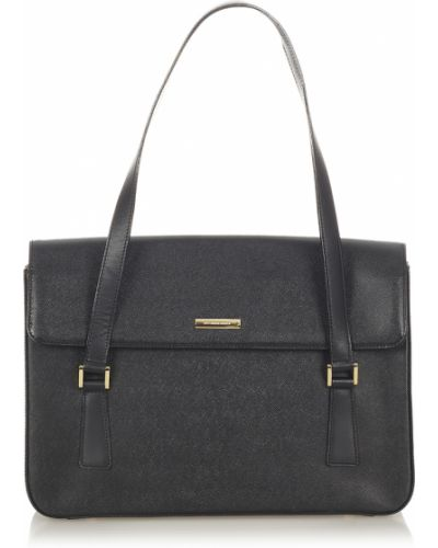 Czarna torebka skórzana Burberry Vintage