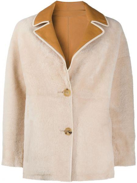 Белая кожаная куртка двусторонняя Blancha