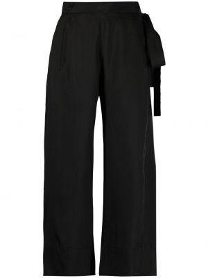 Расклешенные с завышенной талией черные укороченные брюки Masnada
