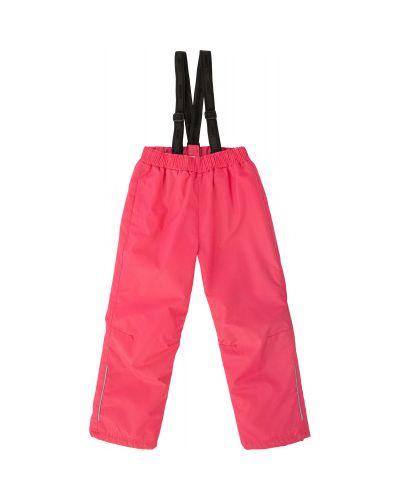 Розовые прямые утепленные брюки Lassie