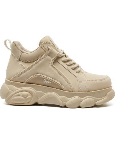 Мягкие кожаные кроссовки на платформе Buffalo
