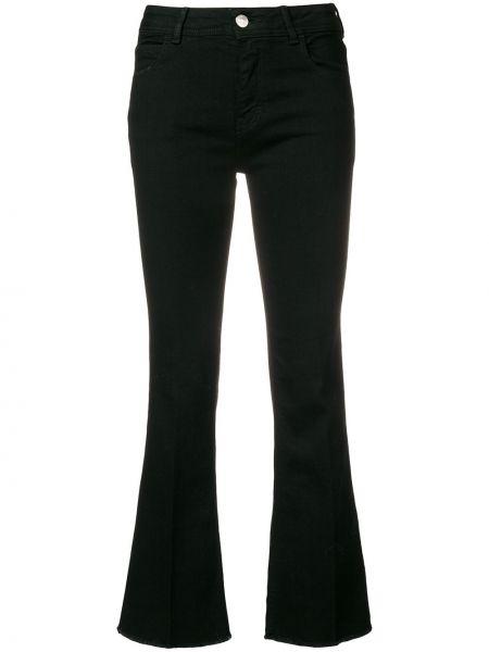 Укороченные джинсы расклешенные черные Haikure