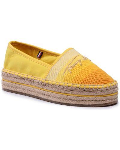 Żółte espadryle Tommy Hilfiger