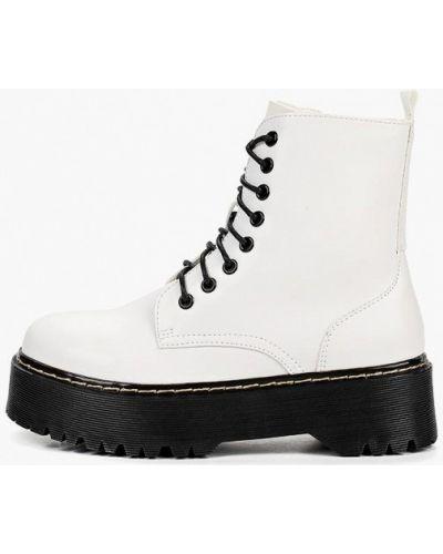 Кожаные ботинки белые кожаные Super Mode