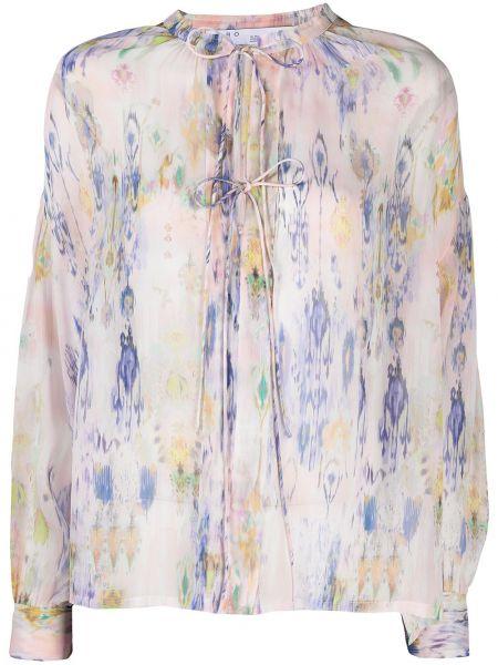 Розовая блузка с воротником из вискозы Iro