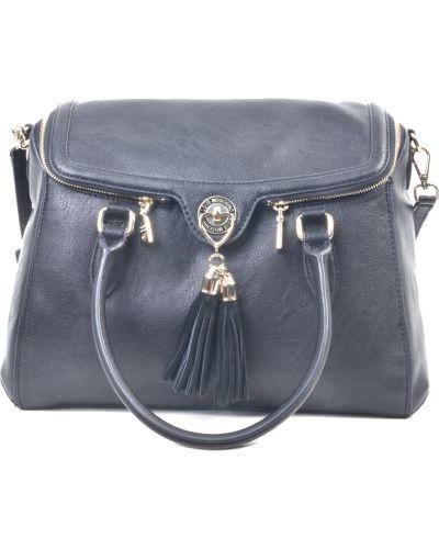 Кожаная сумка черная Love Moschino