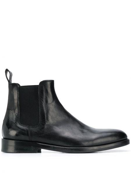 Кожаные черные ботинки челси на каблуке эластичные Zadig&voltaire