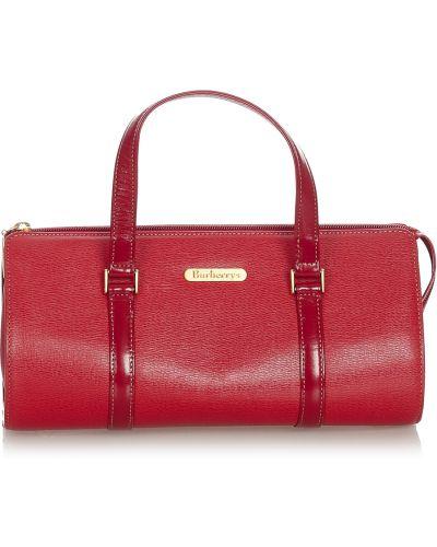 Czerwona torebka skórzana Burberry Vintage