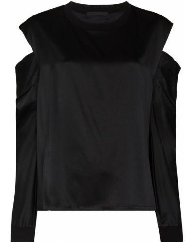 Czarna koszulka z długimi rękawami Rta