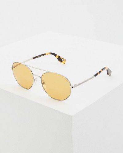 Солнцезащитные очки круглые серебряный Marc Jacobs