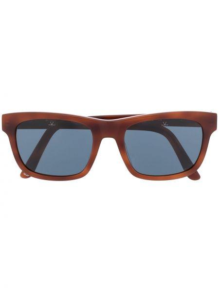 Прямые солнцезащитные очки квадратные хаки с завязками Vuarnet