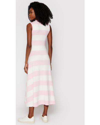 Różowa sukienka na co dzień Polo Ralph Lauren