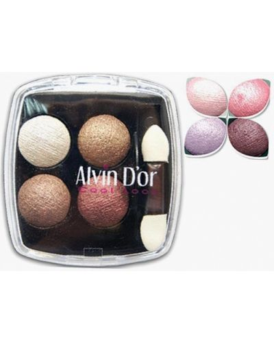 Розовые тени для век Alvin D'or