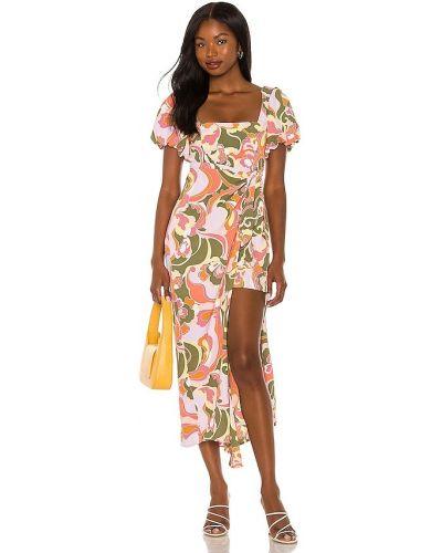 Платье с запахом - розовое Show Me Your Mumu