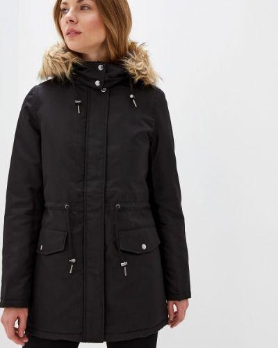 Утепленная куртка демисезонная черная Vila