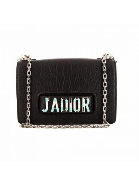 Czarna torebka srebrna Christian Dior