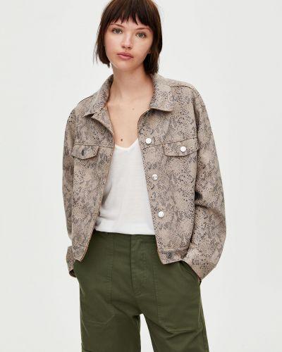 Кожаная кожаная куртка Pull & Bear