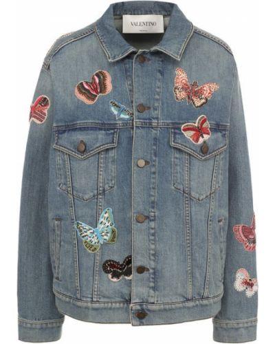 Джинсовая куртка с нашивками Valentino