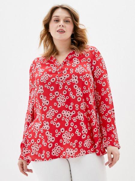 Блузка с длинным рукавом весенний красная Ulla Popken