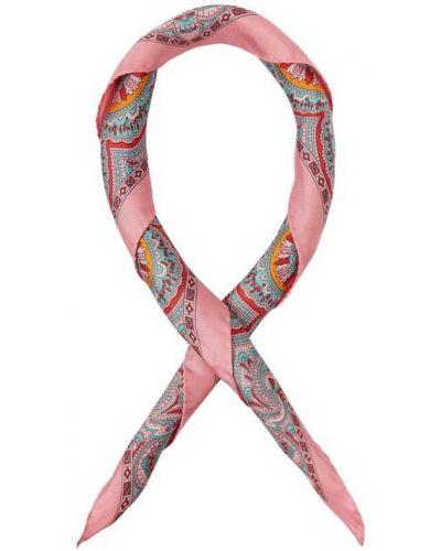 Różowa chusta z jedwabiu Roeckl